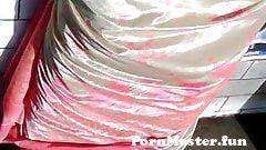 View Full Screen: satin saree aunty back.jpg