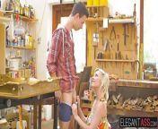 Horny blonde Zazie Skym takes long sword in her tight asshol from zazie beetz