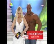 Sexy Blonde Turkish anchor with Big Man on TV Show from telugu tv anchor jayathi nude sex photos