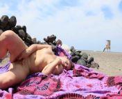 Horny Babe masturbates and uses vibrator on a public beach from av4 us bitporno nude 27